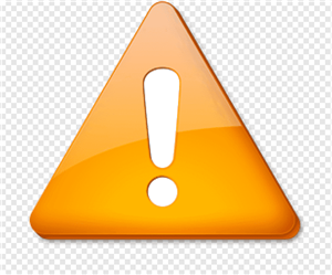 orange exclamation point